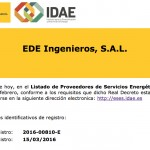 certificado EDE