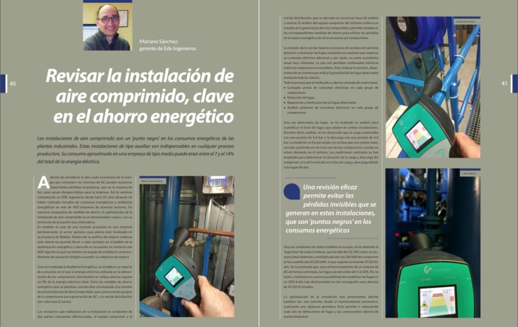 eficiencia energetica en instalacion de aire comprimido