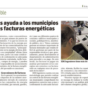 gestion de facturas energeticas municipales